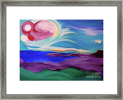 Angel Sky Framed Print by First Star Art