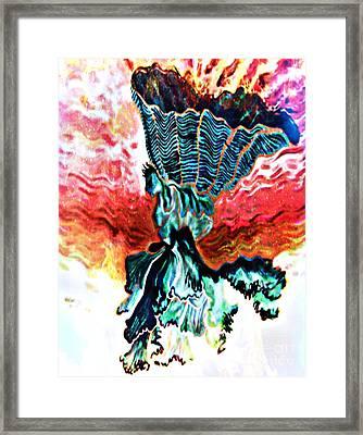Angel Solar Framed Print by Genevieve Esson