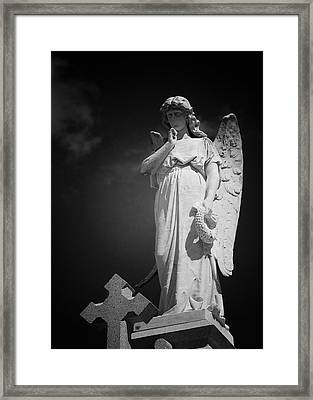 Angel St Louis Cemetery No 3 New Orleans Framed Print by Christine Till