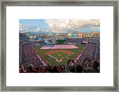 Angel Stadium Of Anaheim Framed Print