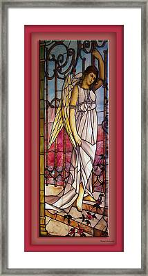 Angel Stained Glass Window Framed Print by Thomas Woolworth