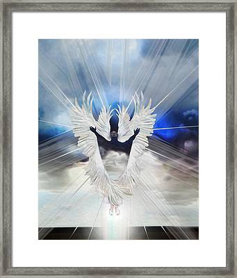 Angel Storm Framed Print by Ron Cantrell