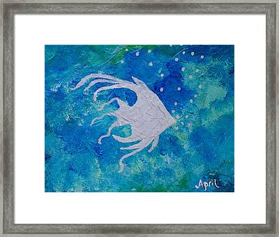 Angel Swam By Framed Print by April Moran