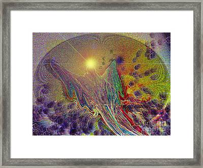 Framed Print featuring the digital art Angel Taking Flight by Alison Caltrider