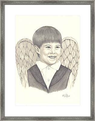 Framed Print featuring the drawing Angel Too by Patricia Hiltz