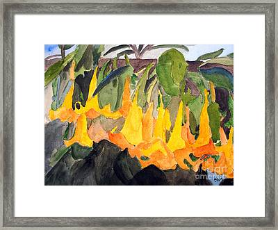 Angel Trumpets Framed Print