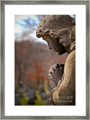Angel Watching Over Framed Print by Amy Cicconi