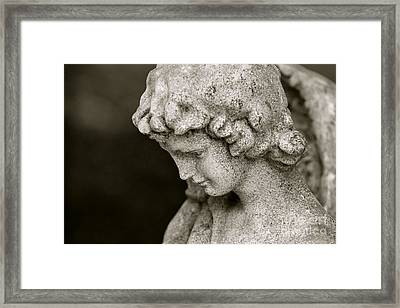 Angel Watching Over Us Framed Print