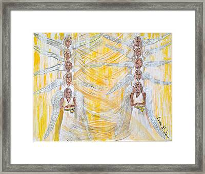 Angel Winds Flames Of Fire Framed Print by Cassie Sears
