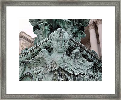 Framed Print featuring the photograph Angel Wings by Ed Weidman
