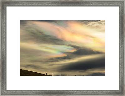 Angel Wings In Rainbow Clouds Framed Print