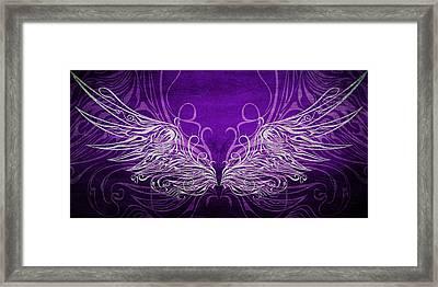 Angel Wings Royal Framed Print by Angelina Vick