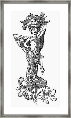 Angel With Fruit Bowl (illustration) Framed Print