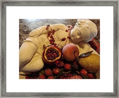 Angel With Fruit Framed Print