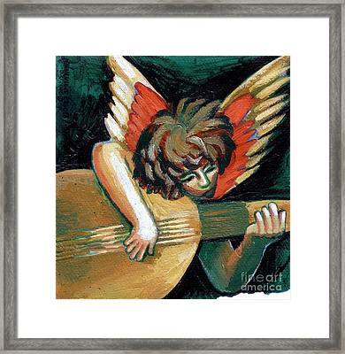 Angel With Lute Framed Print