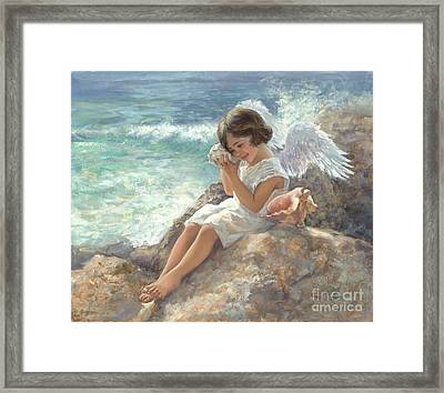 Angel With Shell Framed Print