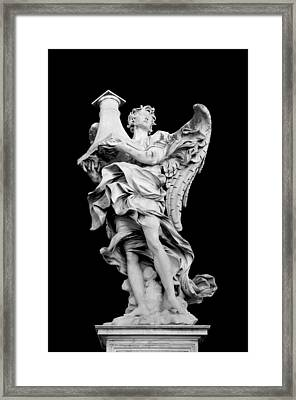 Angel With The Column Framed Print by Fabrizio Troiani