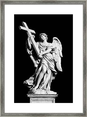Angel With The Cross Framed Print by Fabrizio Troiani