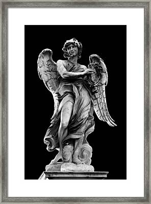 Angel With The Crown Of Thorns Framed Print by Fabrizio Troiani