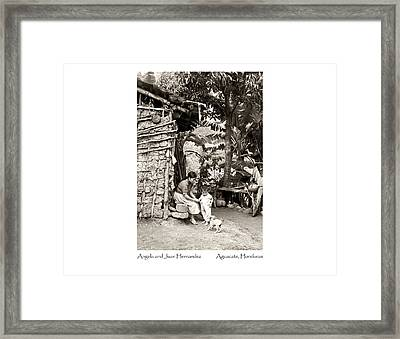 Angela And Juan Hernandez Framed Print