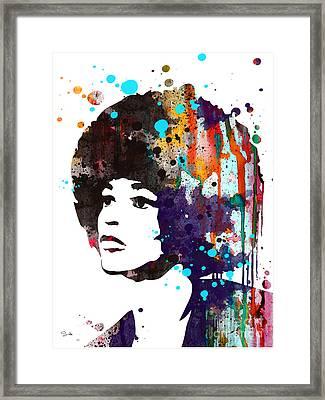 Angela Davis Framed Print