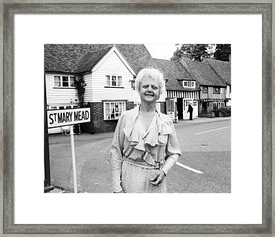 Angela Lansbury In The Mirror Crack'd  Framed Print by Silver Screen