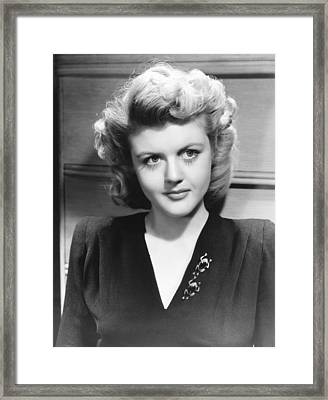 Angela Lansbury, Mid To Late 1940s Framed Print by Everett