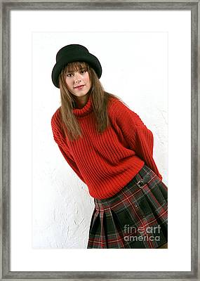 Angela Plaid Skirt Framed Print by Gary Gingrich Galleries