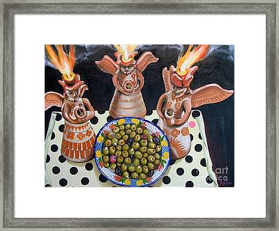 Angelas De Tapas Framed Print by Shelley Laffal