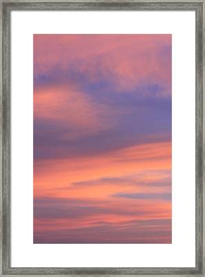 Angeles Crest Sunset Framed Print by Sarah Vandenbusch