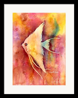 Fish Underwater Paintings Framed Prints