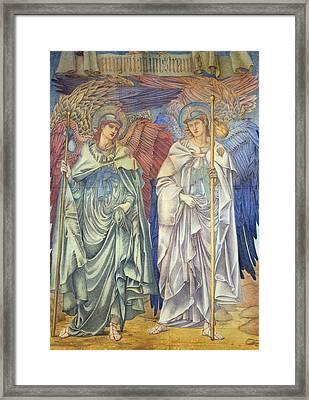 Angeli Ministrantes Framed Print by Sir Edward Coley Burne-Jones