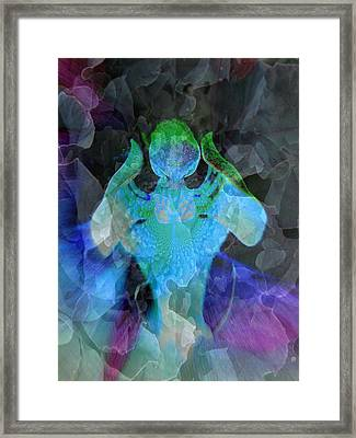 Angelic Descent Framed Print by Shirley Sirois