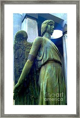 Framed Print featuring the photograph Angelic Guard by Michael Hoard
