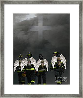 Angelic Heroes Framed Print