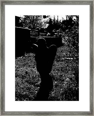 Framed Print featuring the photograph Angelic Silhouette by Cleaster Cotton