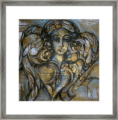 Angelic Sorrow Framed Print by Julie Lee