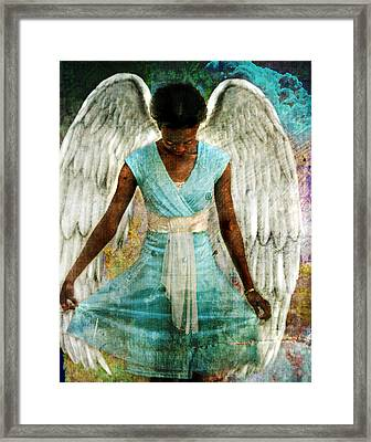 Angelic Thanks Framed Print