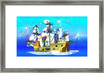 Framed Print featuring the digital art Angelic Voyage by Mary Anne Ritchie