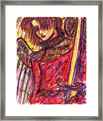 Angelic Warrior Framed Print by Rachel Scott