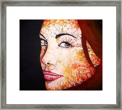 Angelina Framed Print by Atinderpal Singh