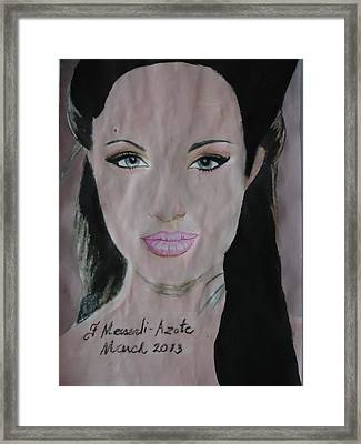 Angelina Framed Print by Fladelita Messerli-
