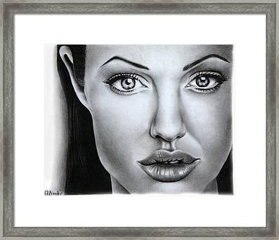 Angelina Jolie Framed Print by Atinderpal Singh