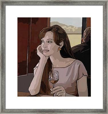 Angelina Jolie Drawing Framed Print by Dominique Amendola