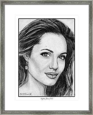 Angelina Jolie In 2005 Framed Print by J McCombie