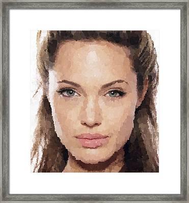 Angelina Jolie Portrait Framed Print