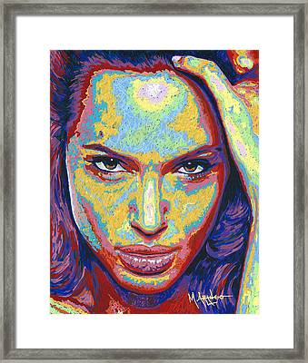 Angelina Framed Print by Maria Arango
