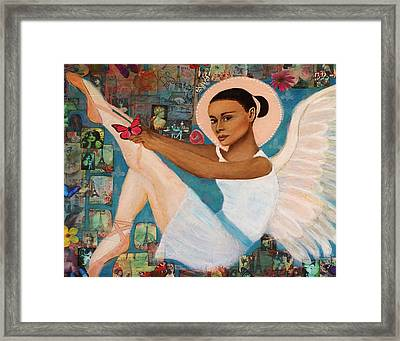 Angelique Earthangel From France Framed Print by The Art With A Heart By Charlotte Phillips
