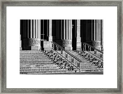 Angell Hall Steps Framed Print by James Howe