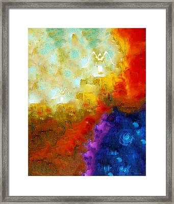 Angels Among Us - Emotive Spiritual Healing Art Framed Print by Sharon Cummings